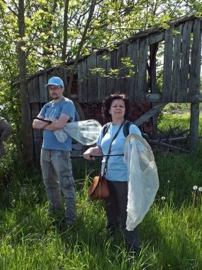 Przewodnicząca sekcji dipterologicznej Anna Klasa oraz Robert Żóralski