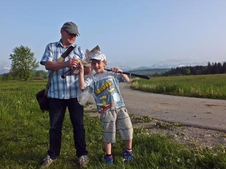 Roland Dobosz z synkiem Dominikiem