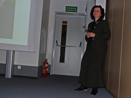 Przewodnicząca Sekcji Dipterologicznej Anna Klasa