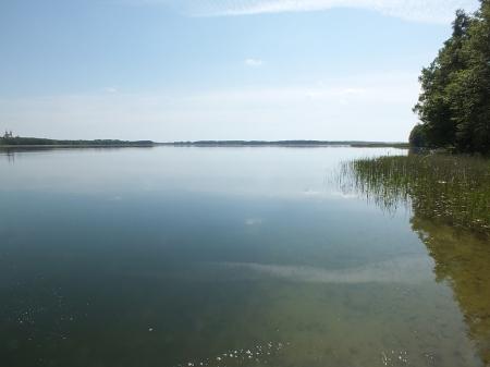 Widok na jezioro Wigry